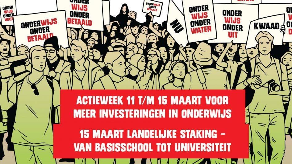 15 maart landelijke staking onderwijs